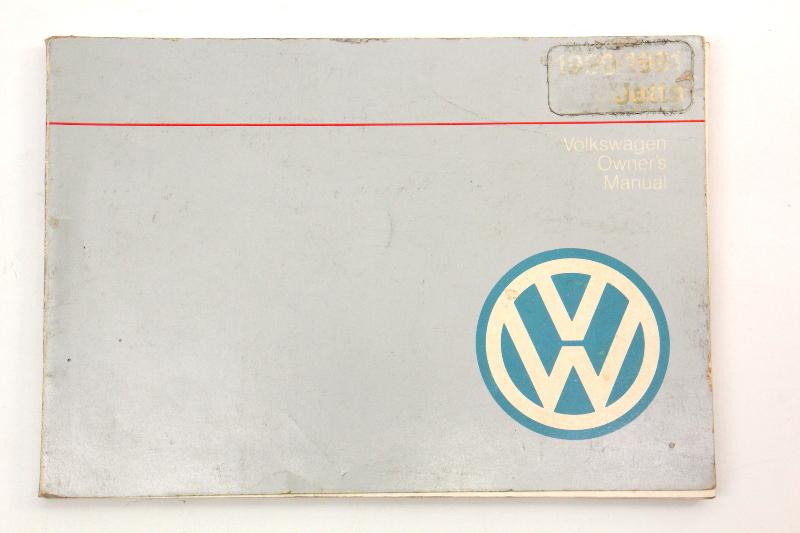 1990 Volkswagen VW Jetta Owners Manual Book MK2 - Genuine