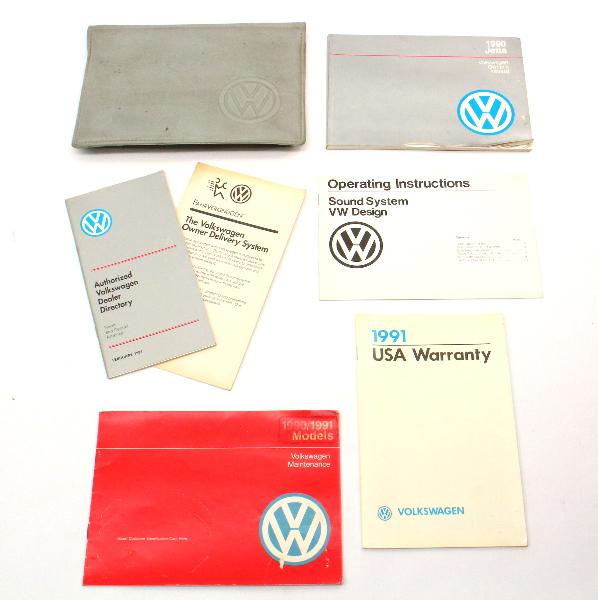 1990 Volkswagen VW Jetta Owners Manual Book MK2 ~ Genuine