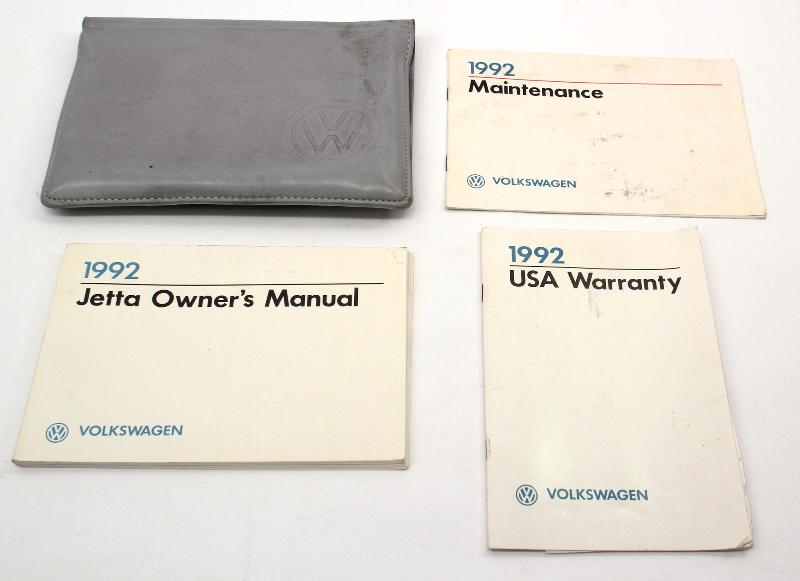 1992 Volkswagen VW Jetta Owners Manual Book MK2 - Genuine