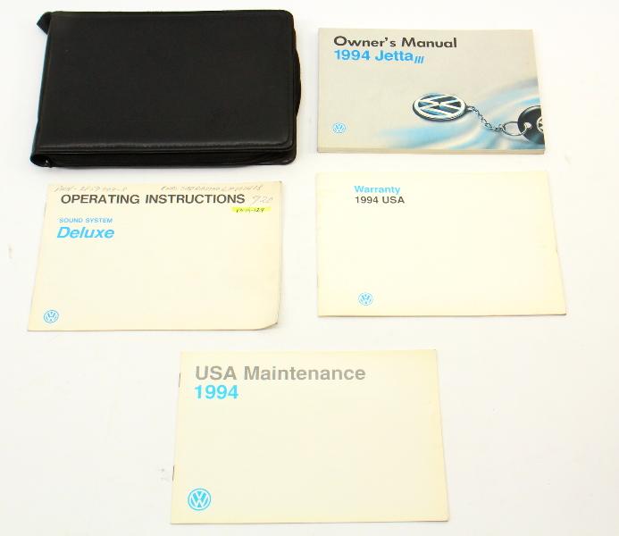 1994 Volkswagen VW Jetta III MK3 Owners Manual Book - Genuine