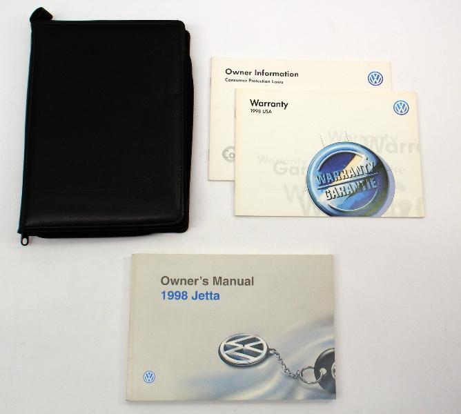 1998 Volkswagen VW Jetta MK3 Owners Manual Book - Genuine