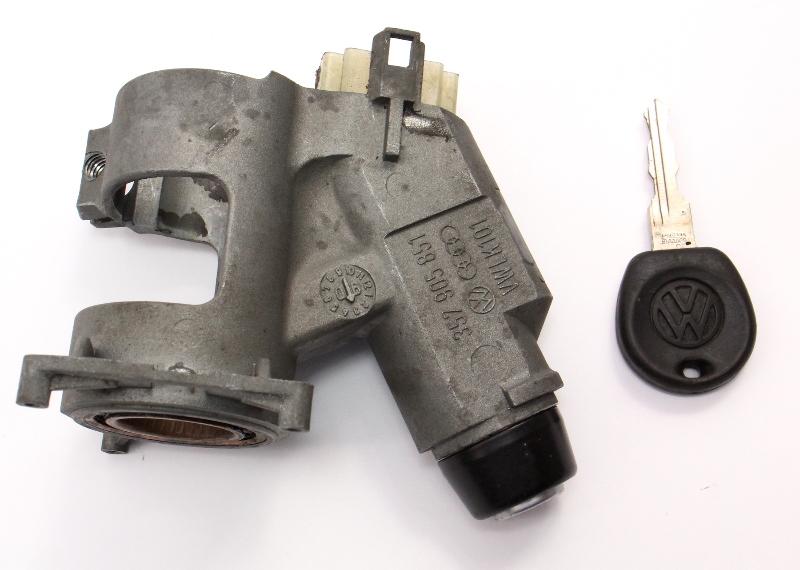 Ignition Housing Collar & Key 89-99 VW Jetta Golf MK2 MK3 MT Genuine 357 905 851
