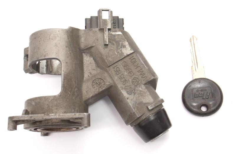 Ignition Housing Collar & Key 89-99 VW Jetta Gold Mk2 MK3 MT - 357 905 851