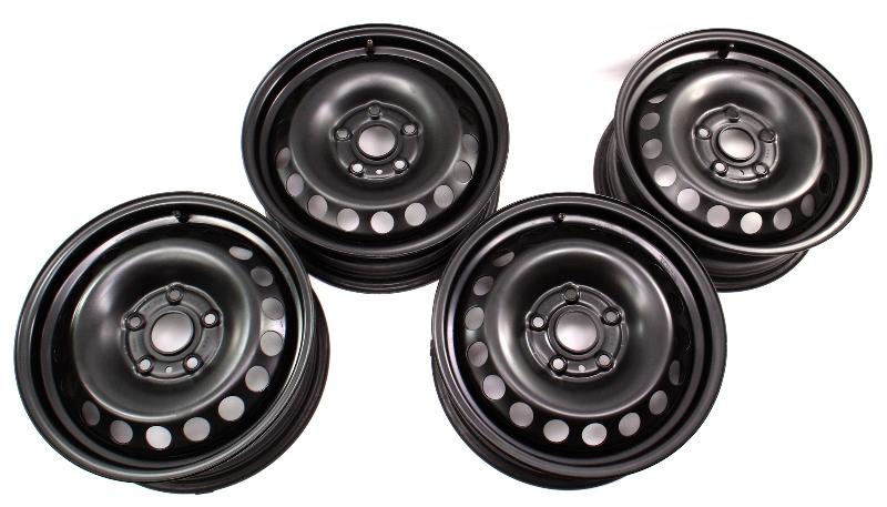 "15"" Steel Wheel Rim Set 05-14 VW Rabbit Golf Jetta Mk5 MK6 - 5K0 601 027 B"