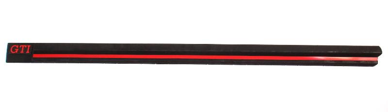 LH Door Trim Molding Rub Strip Red Stripe 85-87 VW Golf GTI MK2 - 176 853 471