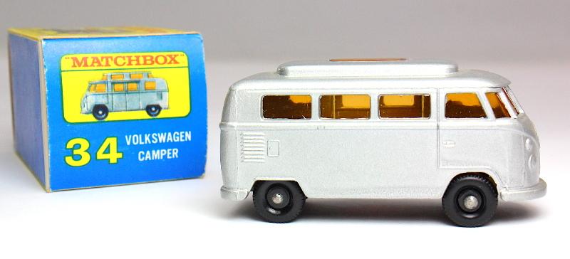 Matchbox Lesney VW Bus Camper #34 & Original Box