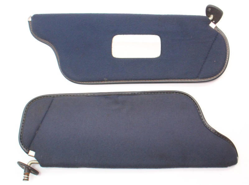 Blue Sun Visor Set Sunvisors 81-84 VW Rabbit  Pickup GTI Jetta Mk1 175 857 551