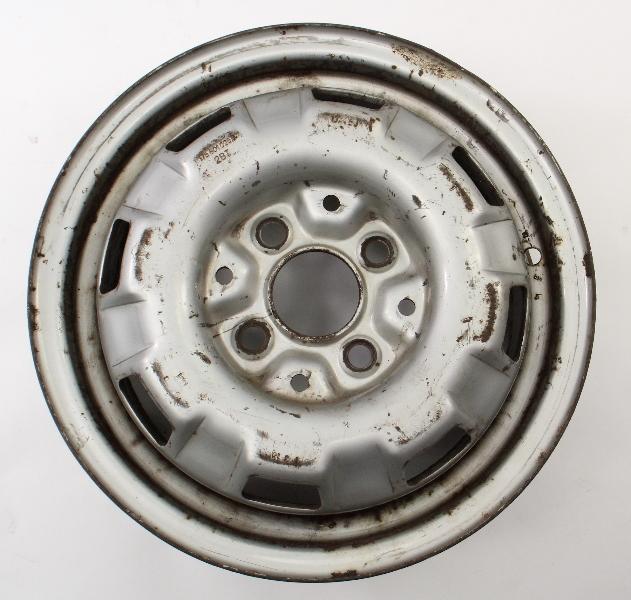 """13"""" x 4.5"""" Stock Steel Wheel Rim 4x100 75-84 VW Rabbit Jetta MK1 175 601 025 B"""