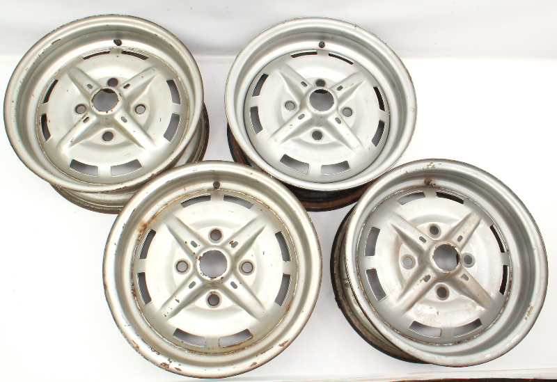 "15"" x 5.5"" Wheel Rim Set 1973 VW Sports Bug GSR Beetle Aircooled ET26 Lemmerz GT"
