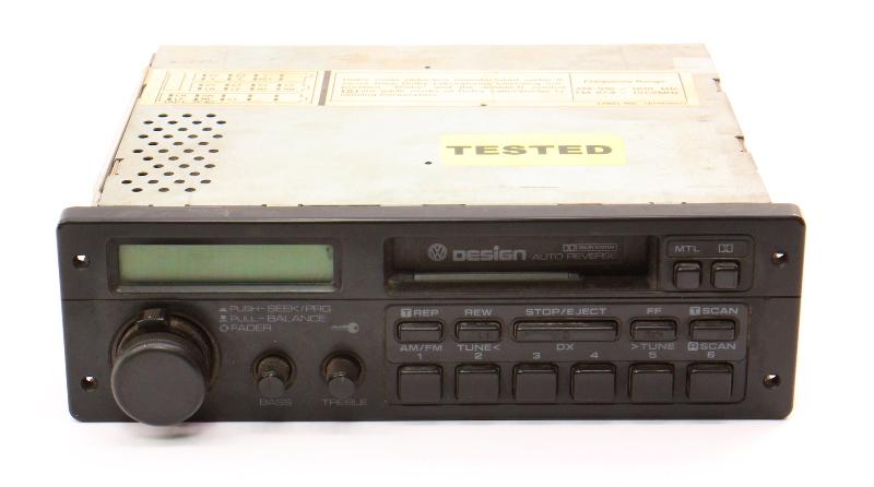 85-92 VW Design Golf Jetta MK2 Vanagon Tape Radio Head Unit - 165 035 180 C