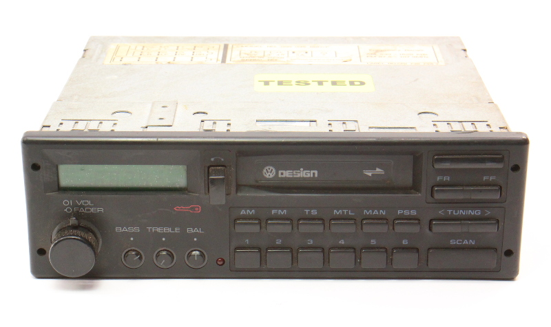 VW Design Tape Radio Head Unit 85-92 Jetta Golf MK2 Fox Passat - 000 035 188 CP