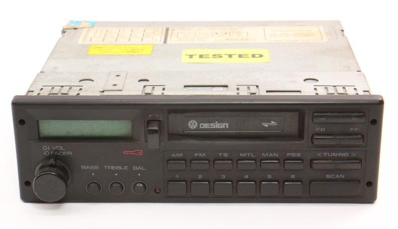 VW Design Tape Radio Head Unit 85-92 Jetta Golf MK2 Fox Passat ~ 000 035 188 CP
