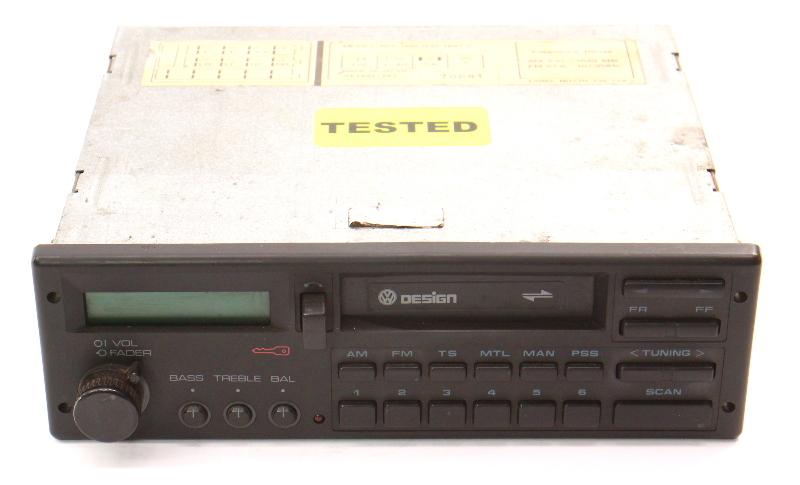 VW Design Tape Radio Head Unit 85-92 Jetta Golf MK2 Fox Passat . 000 035 188 CP