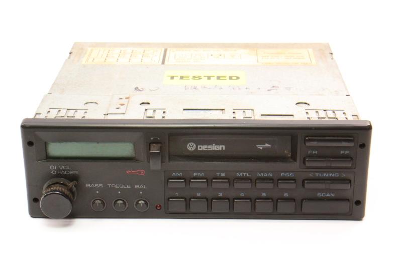 VW Design Tape Radio Head Unit 85-92 Jetta Golf MK2 Fox Passat 000 035 188 CP