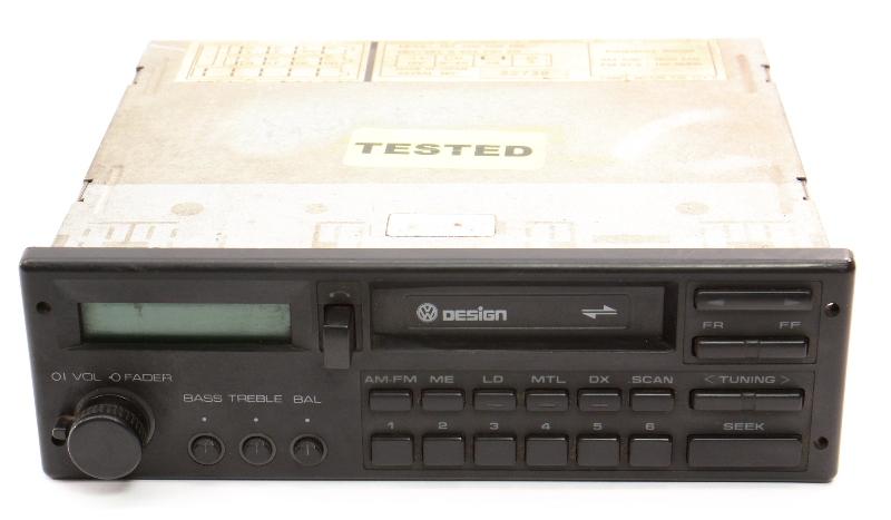 VW Design Tape Radio Head Unit 85-92 Jetta Golf GTI MK2 Fox Passat - 000 035 188