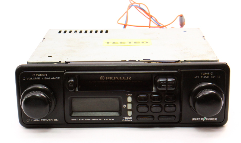 Pioneer SuperTuner KE-1818 Old School Vintage Tape Radio Head Unit Cassette