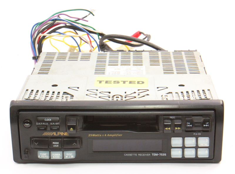 Alpine TDM-7526 Old School Vintage Tape Deck Player Car Radio Head Unit Cassette