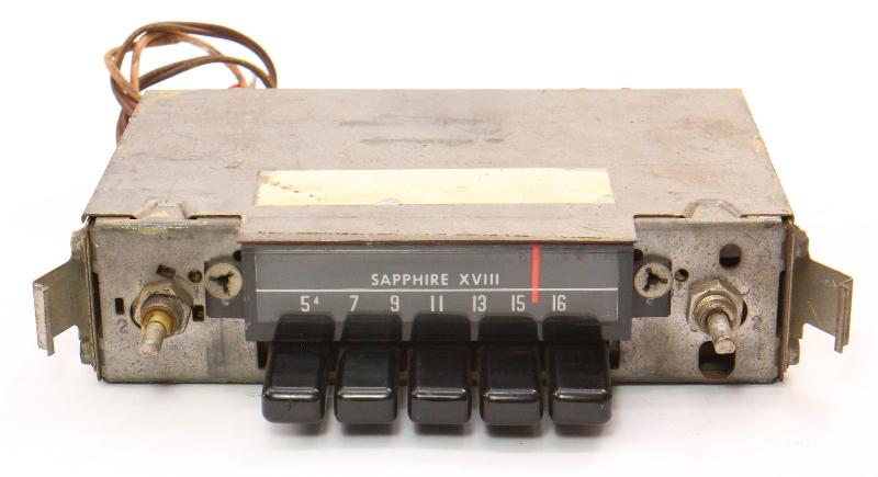 Sapphire XVIII Motorola Factory AM Radio 68-79 VW Beetle Bug Aircooled ~ Vintage
