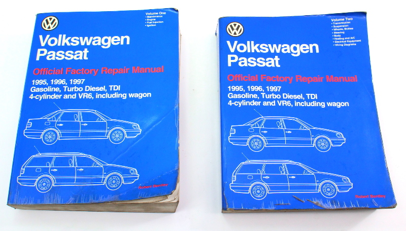 95-97 VW Passat B4 Vol 1 & 2 Official Bentley Repair Manual - LPV 800 207