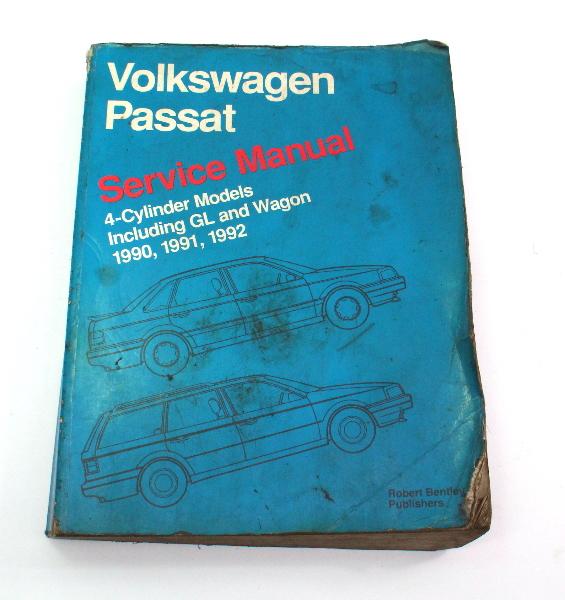 Official Bentley Repair Service Manual Book 90-92 VW Passat B3 4 Cylinder