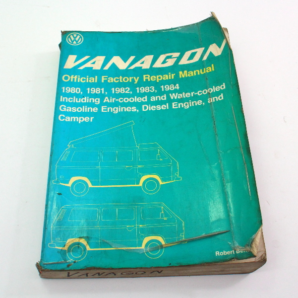 Official Factory Repair Manual Bentley 80-84 VW Vanagon T3 - LPV 800 144