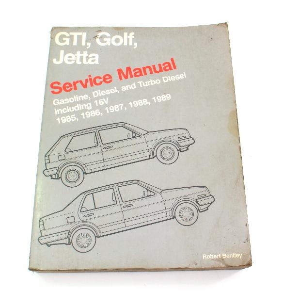 Official Factory Repair Manual Bentley 85-89 VW Jetta Golf GTI MK2 - LPV 800 109