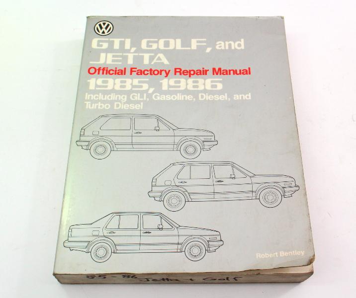 Official Factory Repair Manual Bentley 85-86 VW Jetta Golf GTI MK2 - LPV 800 106