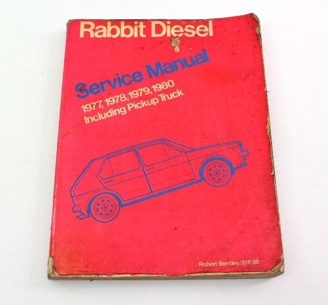 Factory Repair Manual Bentley 77-80 VW Rabbit Diesel Pickup Mk1 LPV 997 175
