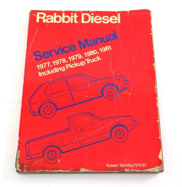Factory Repair Manual Bentley 77-81 VW Rabbit Diesel Pickup Mk1 LPV 997 190