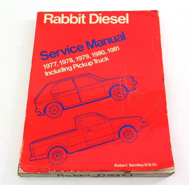 Factory Repair Manual Bentley 77-81 VW Rabbit Diesel Pickup Mk1 - LPV 997 190