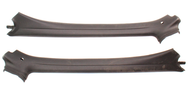 A Pillar Interior Windshield Trim Panels 95-02 VW Cabrio MK3 Genuine 1E0 867 233