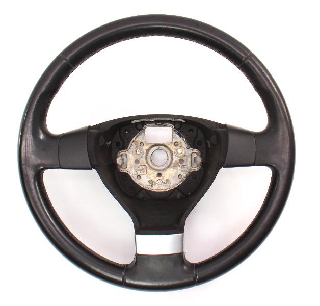 Leather Steering Wheel 05-10 VW Jetta Rabbit MK5 Genuine ~ 1K0 419 091 EQ