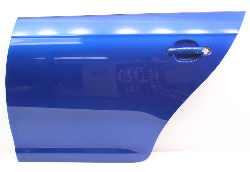 LH Rear Door Shell Skin 05-10 VW Jetta Sedan MK5 LC5J Laser Blue - Genuine