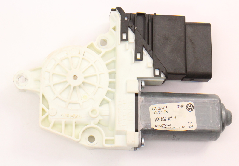 LH Rear Power Window Motor 05-08 VW Jetta MK5 Sedan - Genuine - 1K5 839 401 H
