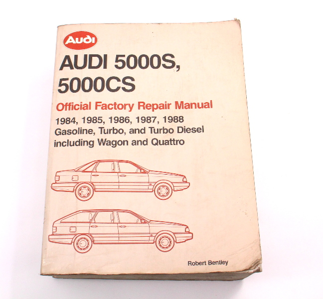 Official Factory Repair Manual Bentley 84-88 Audi 5000S 5000CS - LPV 800 445