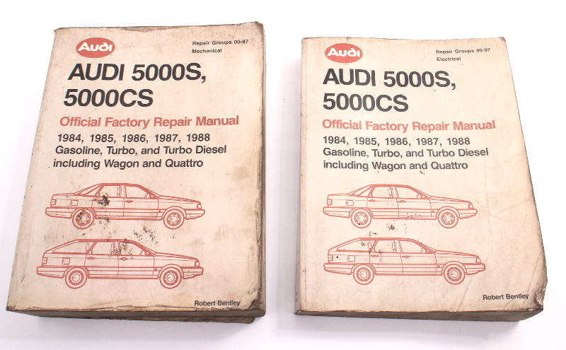 2 Vol Official Factory Repair Manual Bentley 84-88 Audi 5000S 5000CS LPV 800 445