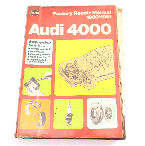 Official Factory Repair Manual Book 80-81 Audi 4000