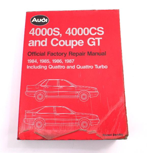 Official Factory Repair Manual Bentley 84-87 Audi 4000S 4000CS - LPV 800 424