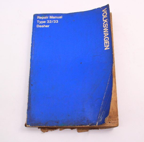 Official Repair Service Manual Book Type 32  33 Vw Dasher