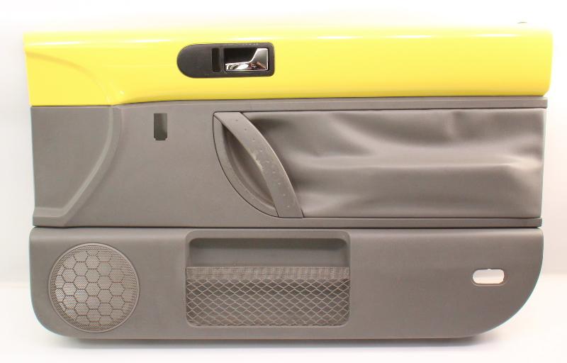 RH Front Interior Door Panel 98-05 VW Beetle Trim Yellow / Grey - 1C1 867 010 E