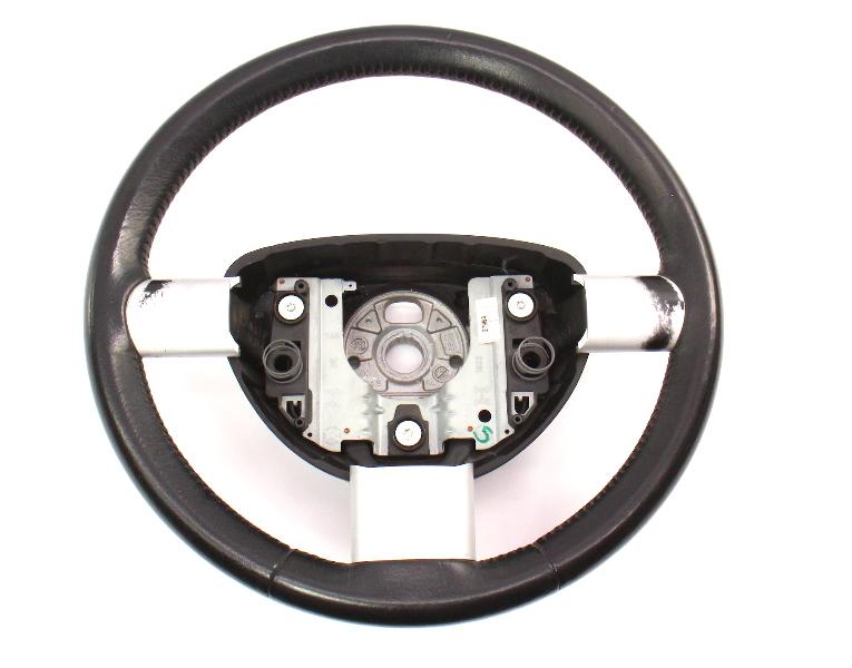 Black Leather Steering Wheel 98-10 VW New Beetle - Genuine