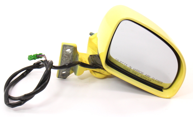 RH Side View Door Mirror & Upper Hinge 98-00 VW Beetle LD1B Yellow - Genuine