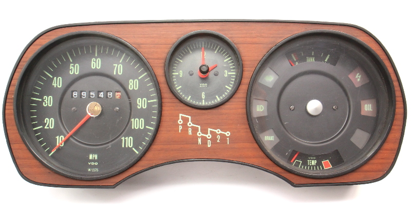 Gauge Cluster Speedometer 73-79 Audi Fox AT Gas - Genuine - 839 919 035 E