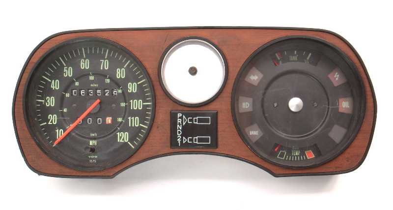 Gauge Cluster Speedometer 73-79 Audi Fox AT Gas - Genuine - 839 919 035 F