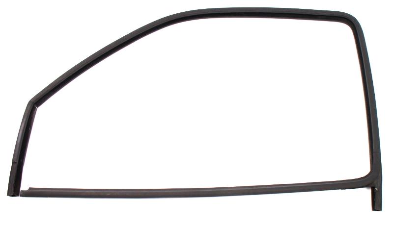 LH Front Side Window Door Glass Rubber Seal 93-99 VW Jetta Golf 4 Door MK3