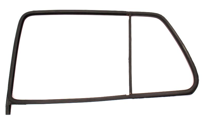 LH Rear Window Door Glass Rubber Seal 93-99 VW Jetta Golf 4 Door MK3 - Genuine