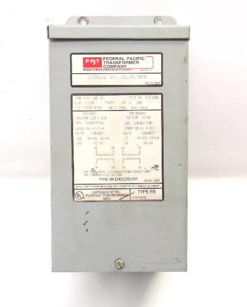 FPT Transformer SB12N.500F 120/240V PHASE 1 Type 3R