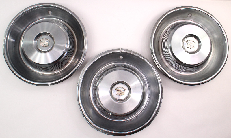 1965 Cadillac Hubcap Hub Cap Set Of 3 Wheel Cover Set - Genuine GM