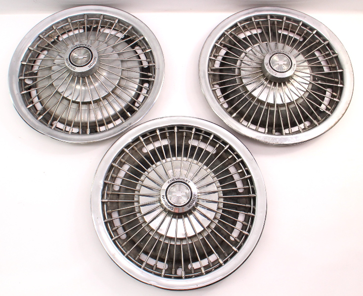67-69 Camaro Hubcap Hub Cap Set Of 3 Wheel Cover Set - Genuine GM