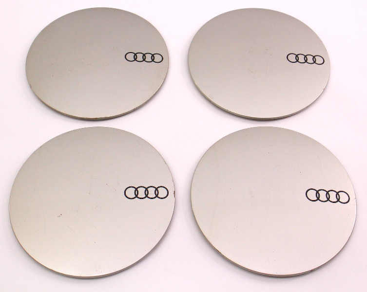 Wheel Center Hub Cap Set 84-87 Audi 5000 - Genuine - 447 601 165